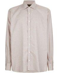 James Purdey & Sons   Tattersall Check Print Shirt   Lyst