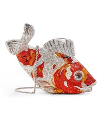 Judith Leiber Embellished Koi Carp Clutch Bag - Metallic