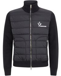 Moncler Multi-textured Cardigan - Black