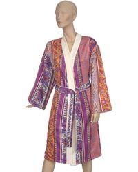 Etro Doubled Kimono Robe (medium) - Red