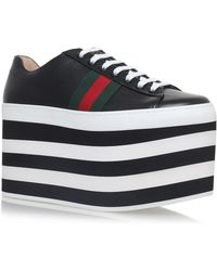 Gucci - Peggy Platform Sneakers, White, It 37 - Lyst