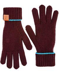Loewe Wool Gloves - Red