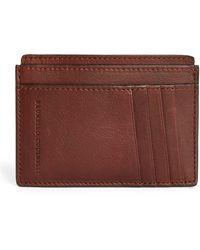 Brunello Cucinelli Leather Card Holder - Brown