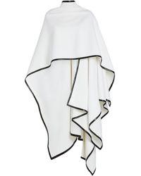 Balmain Leather-trim Shawl - White