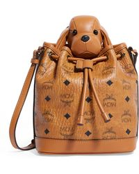MCM Dog Drawstring Bag - Brown