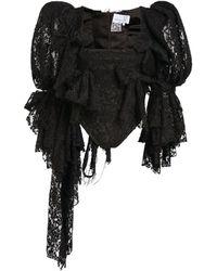 Natasha Zinko Lace Corset Top - Black