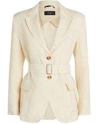 Weekend by Maxmara Belted Blazer - Natural