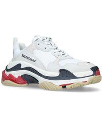 Balenciaga Triple S Low Top Sneakers - White