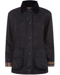 Barbour Classic Beadnell Waxed Jacket - Blue