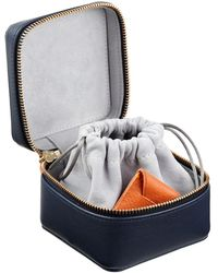 Stow Leather Hester Jewelry Box - Blue