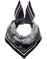 Harrods Monochrome Floral Scarf - Black