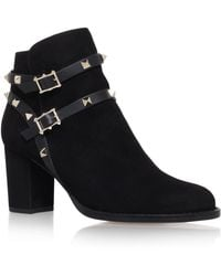 Valentino - Suede Rockstud Ankle Boots 70 - Lyst
