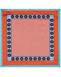 Turnbull & Asser - Mosaic Print Pocket Square - Lyst