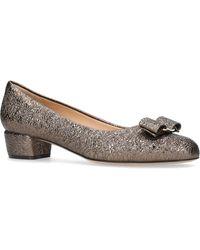 Ferragamo - Metallic Vara Court Shoes 55 - Lyst