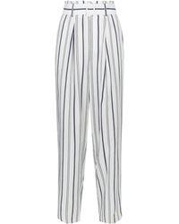 Vince - Striped Straight Gabardine Pants - Lyst