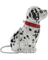 Judith Leiber Crystal Puppy Lucky Clutch Bag - Metallic