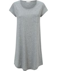 Lyst - Haute Hippie Ribbed Short Robe Sweater - Charcoal Heather ... 3843f72cc