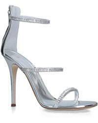 e5dcaef4370 Lyst - Giuseppe Zanotti Leather and Gold Chain Alien 115 Heels in Black