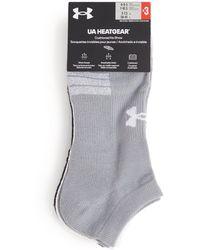 Under Armour Heatgear No Show Socks (pack Of 3) - Grey