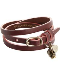 Alexander McQueen - Two-tone Leather Wrap Bracelet - Lyst