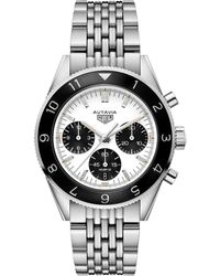Tag Heuer - Steel Autavia Automatic Chronograph Watch 42mm - Lyst