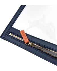 Stow See-view Travel Pouch - Blue