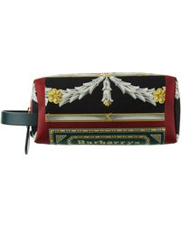 Burberry - Archive Scarf Print Cotton And Leather Pouch - Lyst