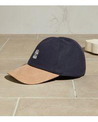 Brunello Cucinelli Logo Baseball Cap - Blue