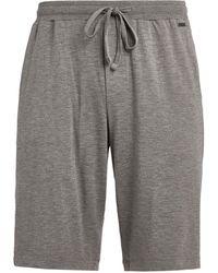 Hanro Cotton Lounge Shorts - Grey