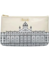 Harrods Illustrated Building Cosmetic Bag - White