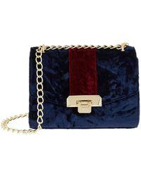 Harrods Pershore Velvet Bag - Blue