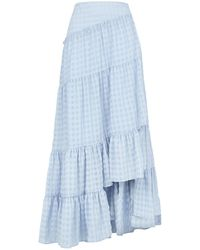 3.1 Phillip Lim - Tiered Gingham Maxi Skirt - Lyst