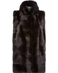 Harrods - Mink Gilet With Stand Collar - Lyst