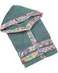 Etro Palavas Towelling Robe (small) - Green