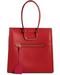 Alexander McQueen Leather The Tall Story Top-handle Bag - Red