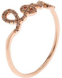 Sydney Evan   Rose Gold And Diamond Love Ring   Lyst