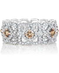 De Beers - White Gold Fancy Coloured Enchanted Lotus Band - Lyst