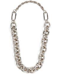 Max Mara Chunky Silver-tone Necklace - Grey