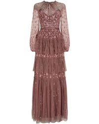 Needle & Thread Embellished Starling Gown - Purple