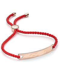 Monica Vinader Havana Friendship Bracelet - Red