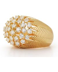 Susan Foster - Yellow Gold Palm Cluster Ring - Lyst