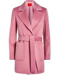 MAX&Co. Wool Shortrun Pea Coat - Pink