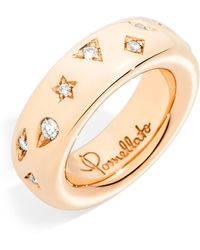 Pomellato - Narrow Rose Gold And Diamond Iconica Ring - Lyst