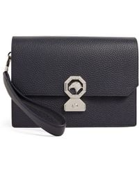 Stefano Ricci Leather Travel Pouch - Blue