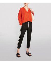 ME+EM Side-stripe Slim Pants - Black