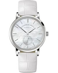 A. Lange & Sohne White Gold And Mother-of-pearl Saxonia Watch 35mm