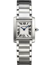 Cartier - Small Stainless Steel Tank Franaise Watch 20mm - Lyst