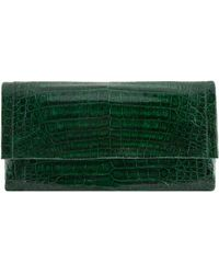 Nancy Gonzalez Small Crocodile Gotham Clutch Bag - Green