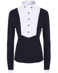 Cavalleria Toscana - Pleated Bib Long Sleeve Shirt - Lyst