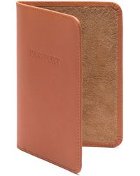 Ettinger Leather Passport Cover - Brown
